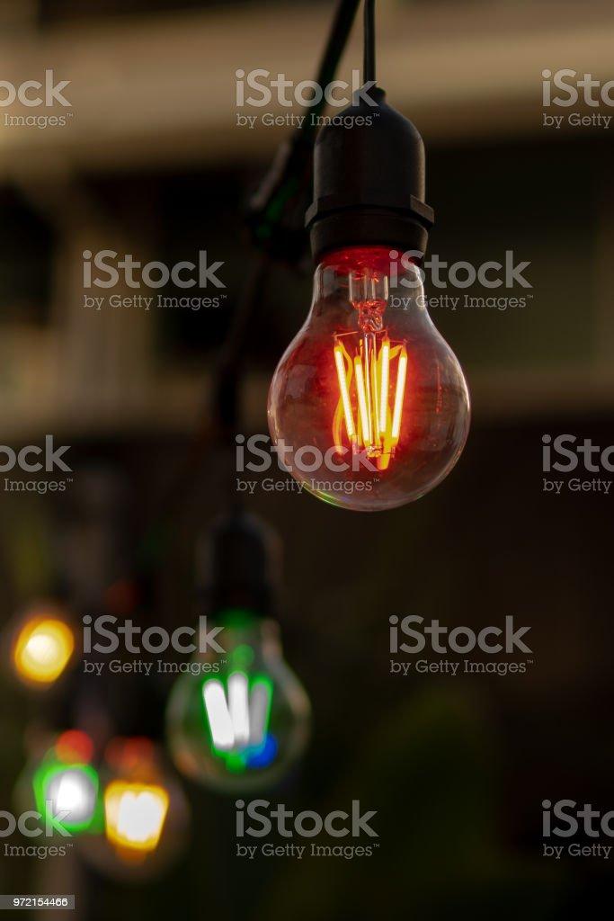street lighting stock photo