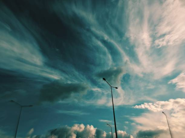Street lights and clouds