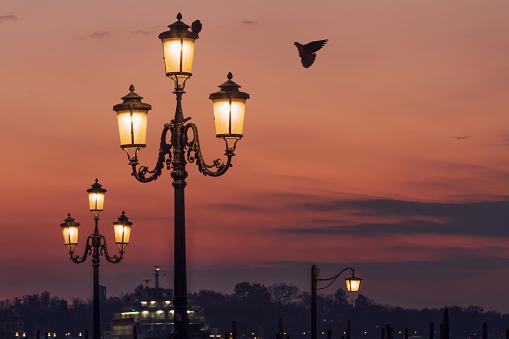 Street Lights of Venice, Italy