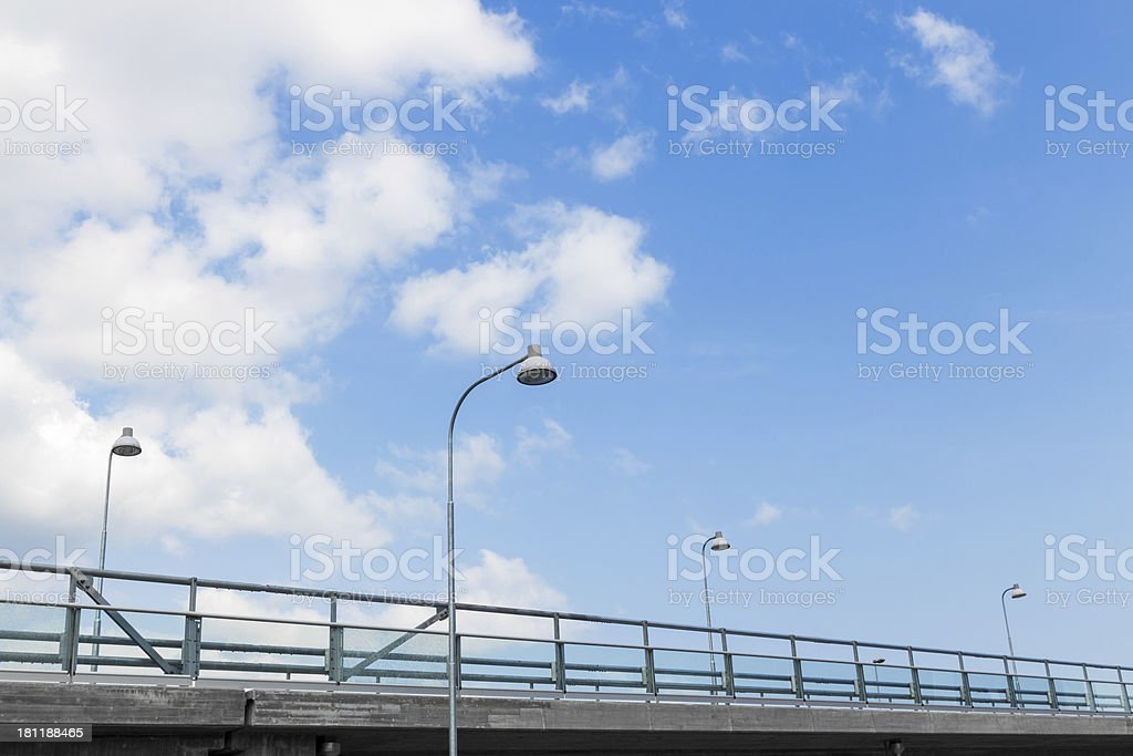 Street lights on a highway royalty-free stock photo
