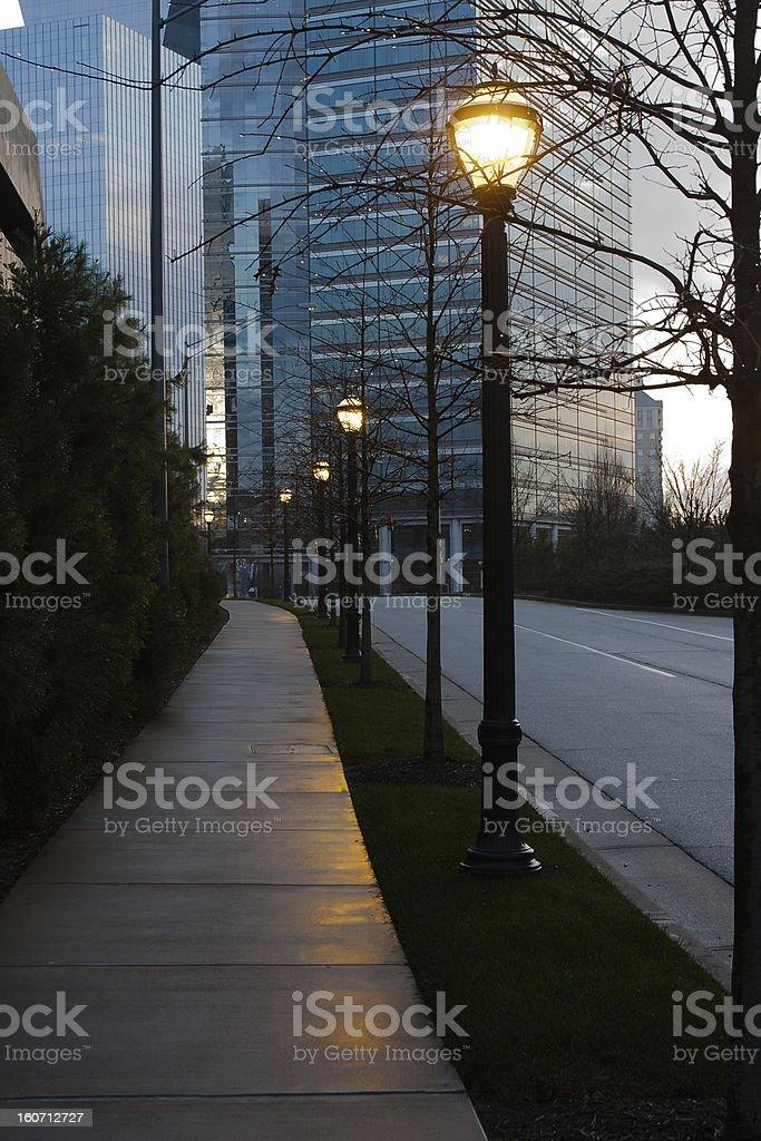 Street lights stock photo