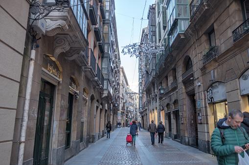 Street Loteria in Old Town Bilbao