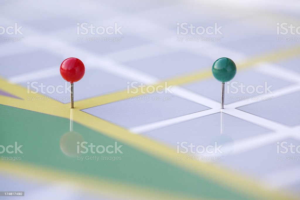 Street Map royalty-free stock photo
