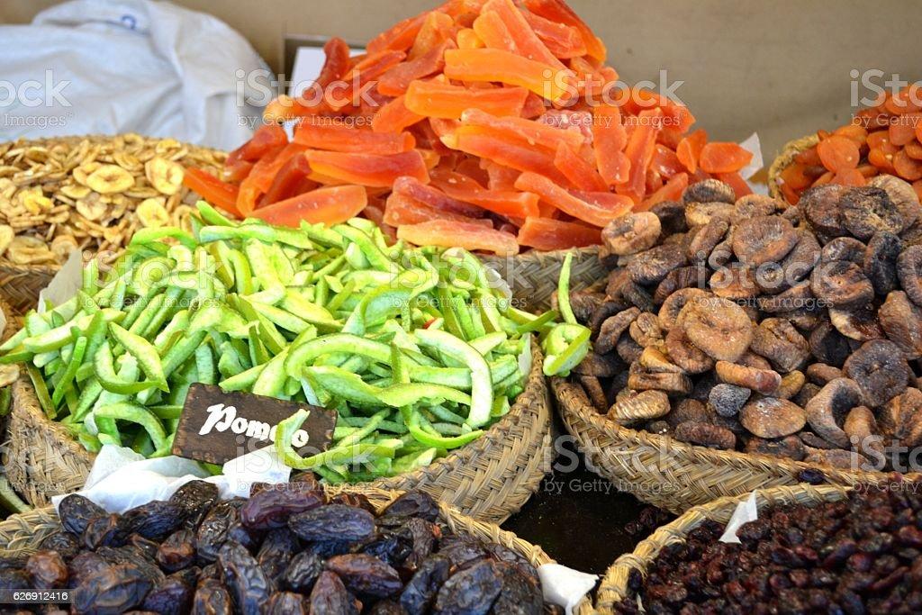 Street market at Valencia stock photo