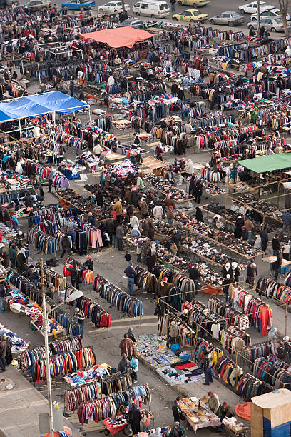 Street Market in Amman, Jordan stock photo