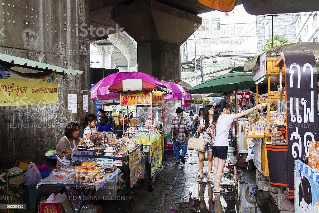 Street Market in Bangkok royalty-free stock photo