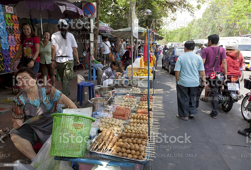 Street market in Bangkok. royalty-free stock photo