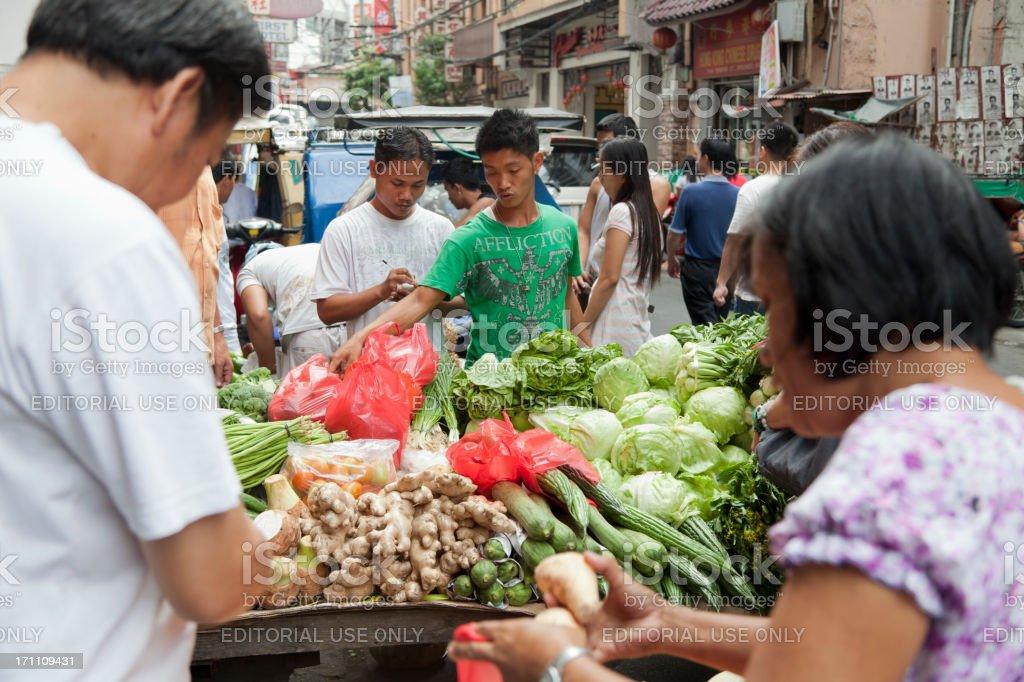 Street Market in Binondo Manila royalty-free stock photo