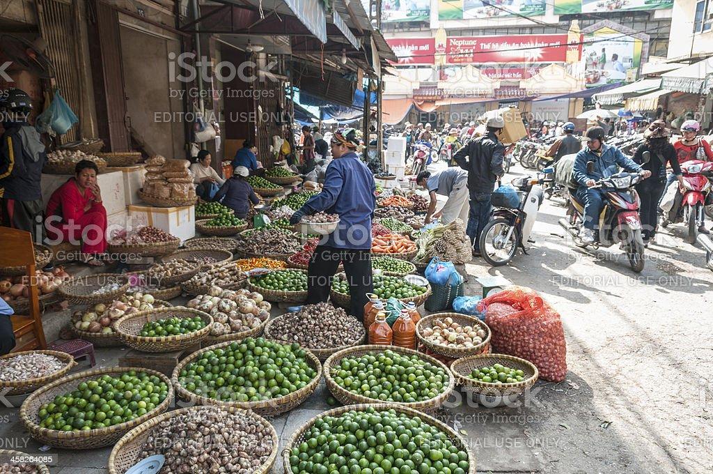 Street Market in Hanoi, Vietnam royalty-free stock photo