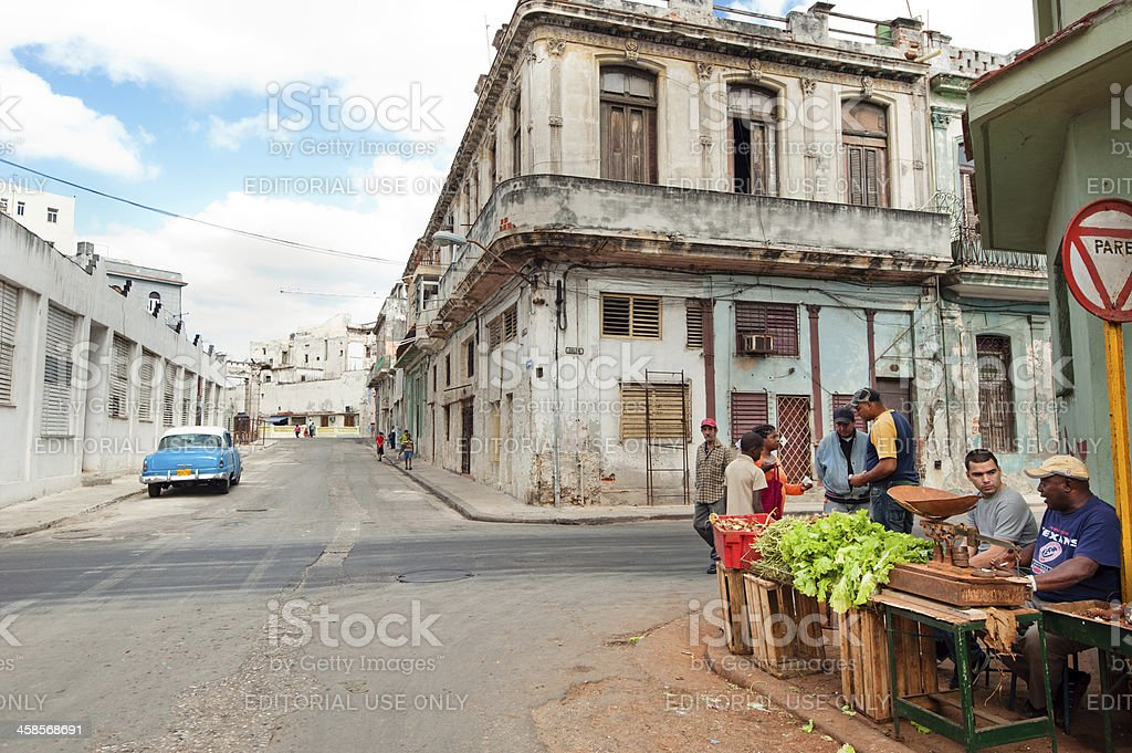 Street market in Havana royalty-free stock photo
