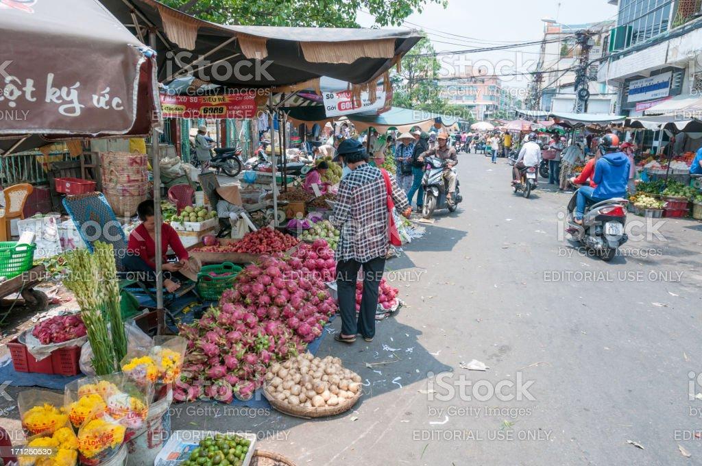 Street Market In Ho Chi Minh City, Vietnam royalty-free stock photo