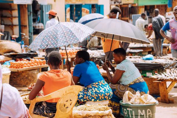 Straßenmarkt in Malawi, Afrika – Foto