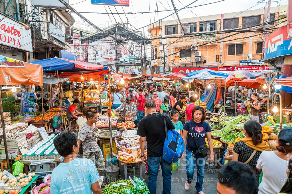 Street Market in Manila, Philippines stock photo