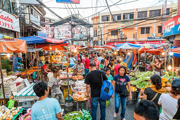 street market in manila, philippines - philippines stock photos and pictures