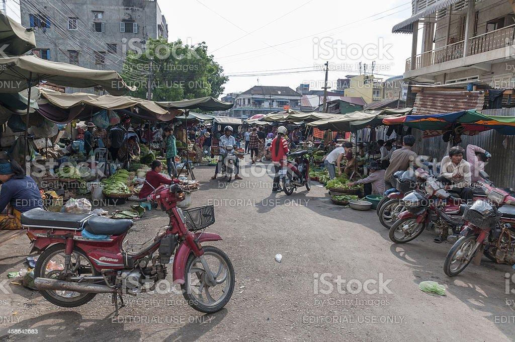 Street Market In Phnom Penh stock photo