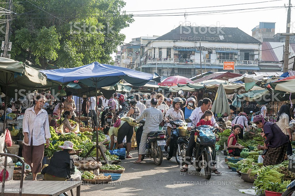 Street Market In Phnom Penh royalty-free stock photo