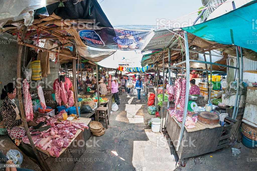 Street Market In Phnom Penh royalty-free stock photo