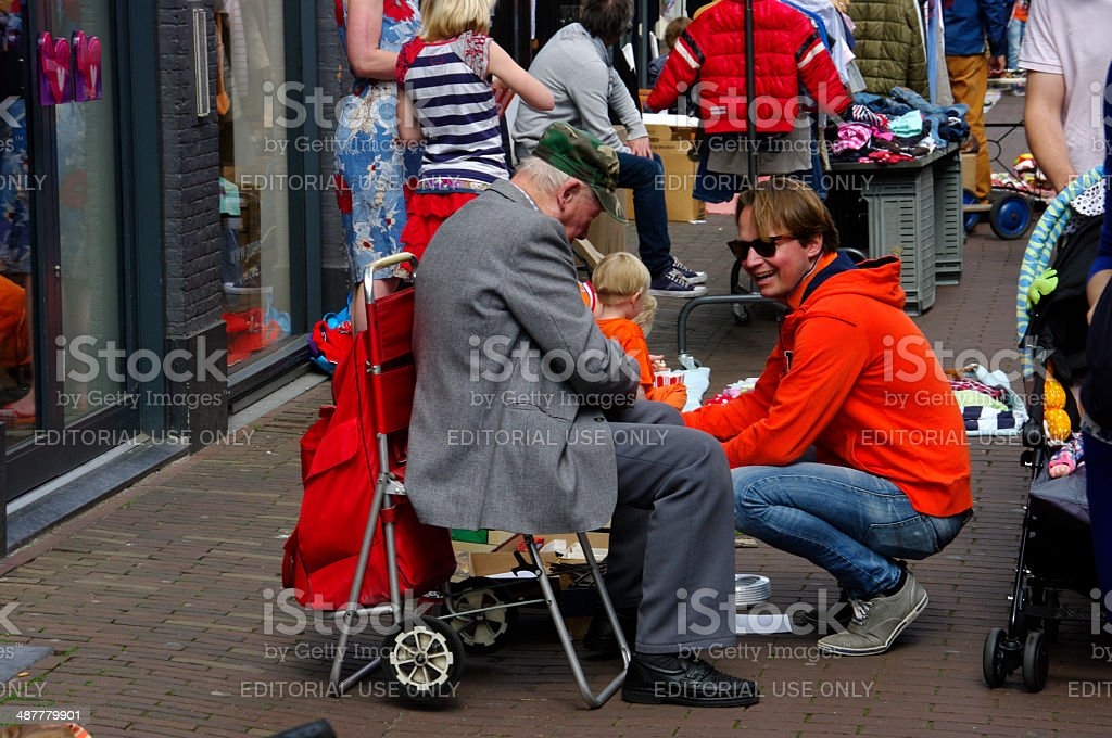 Street market in the city. royalty-free stock photo