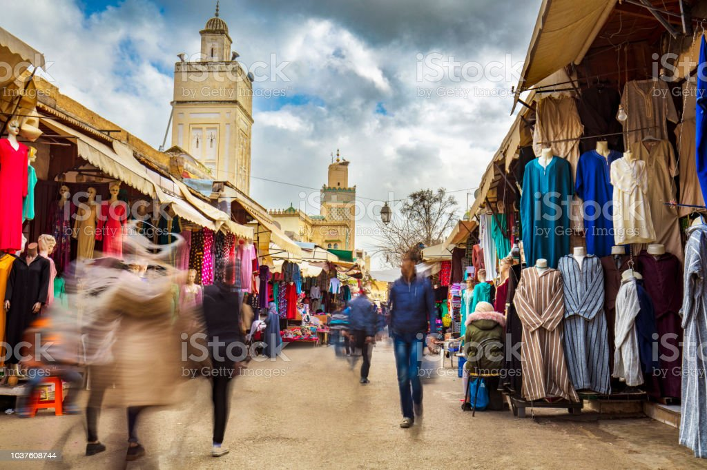 Street Market In The Medina Of Fez Morocco Stock Photo - Download Image Now