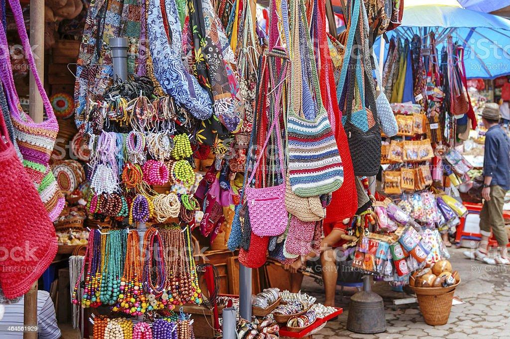 Street Market in Ubud, Bali, Indonesia stock photo