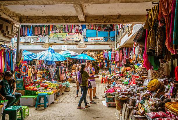 Straßenmarkt in Ubud, Bali – Foto