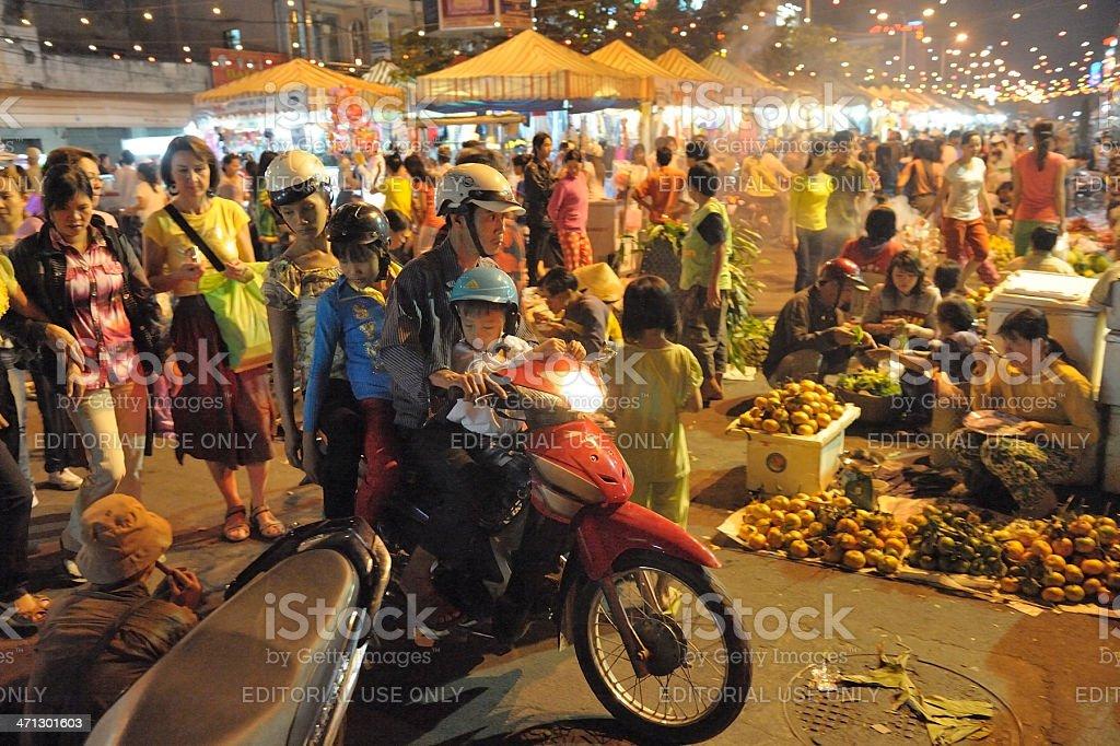 Street market in Vietnam royalty-free stock photo