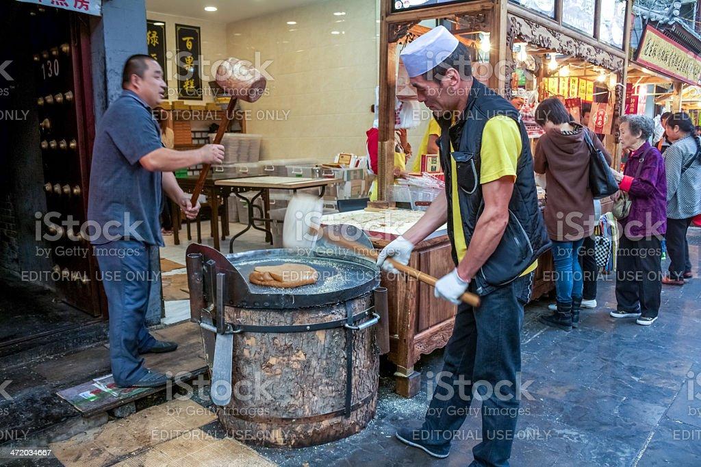 Street market in Xi'an stock photo
