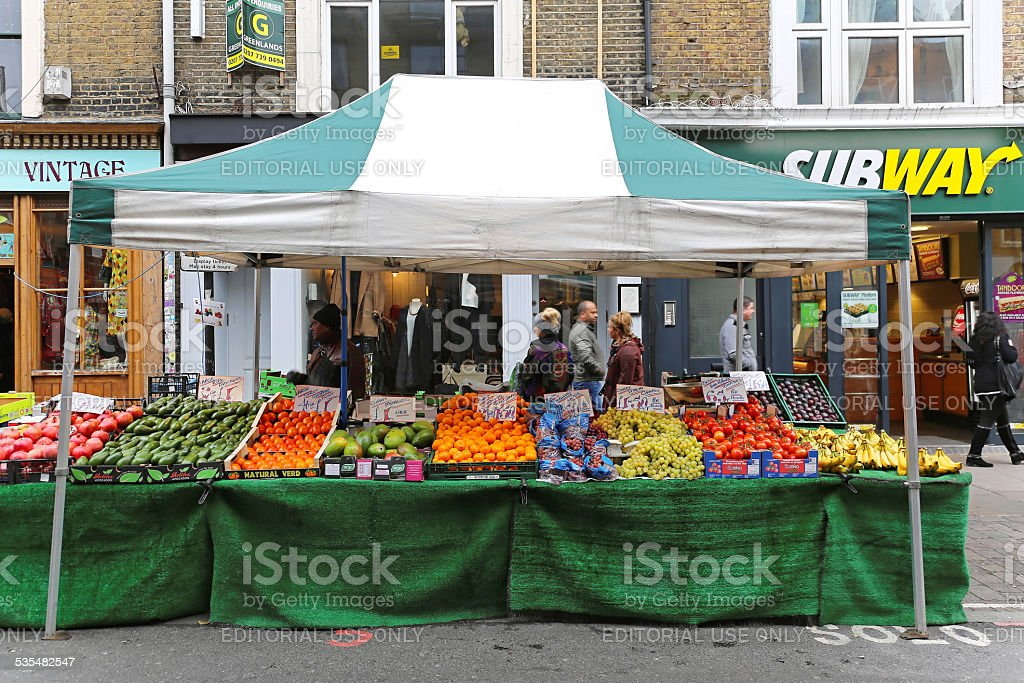 Street Market Stall stock photo