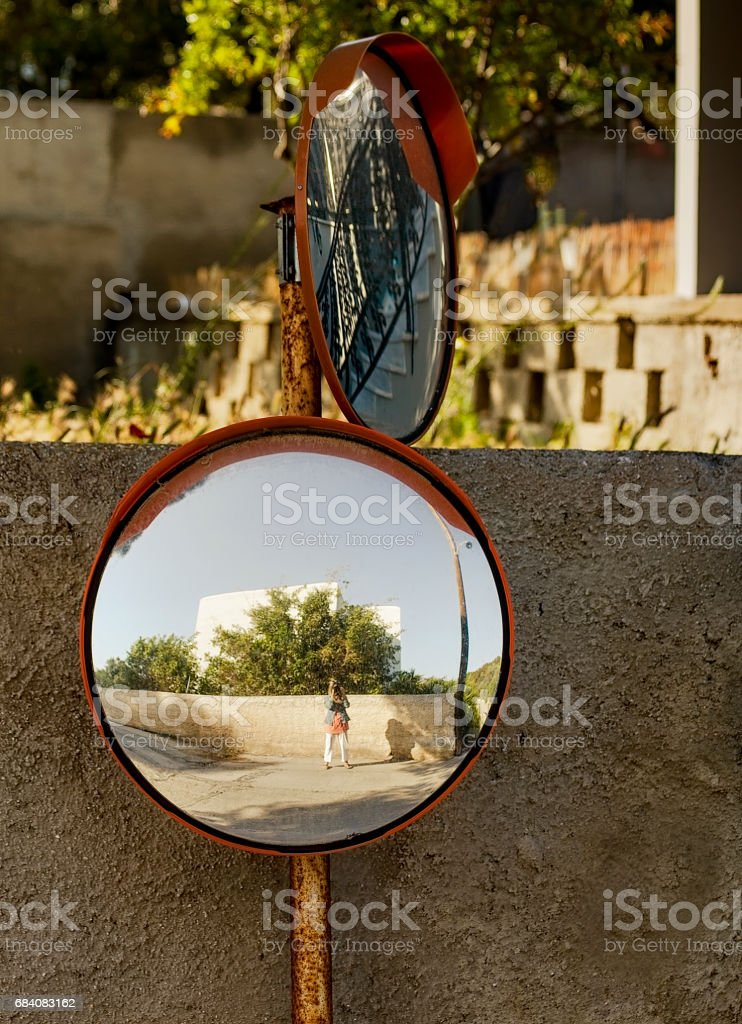 Street Mirrors stock photo