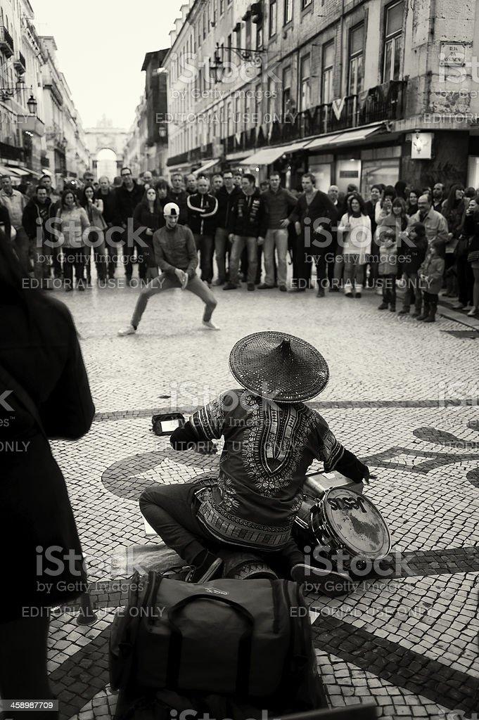 Street Musician in Lisbon royalty-free stock photo
