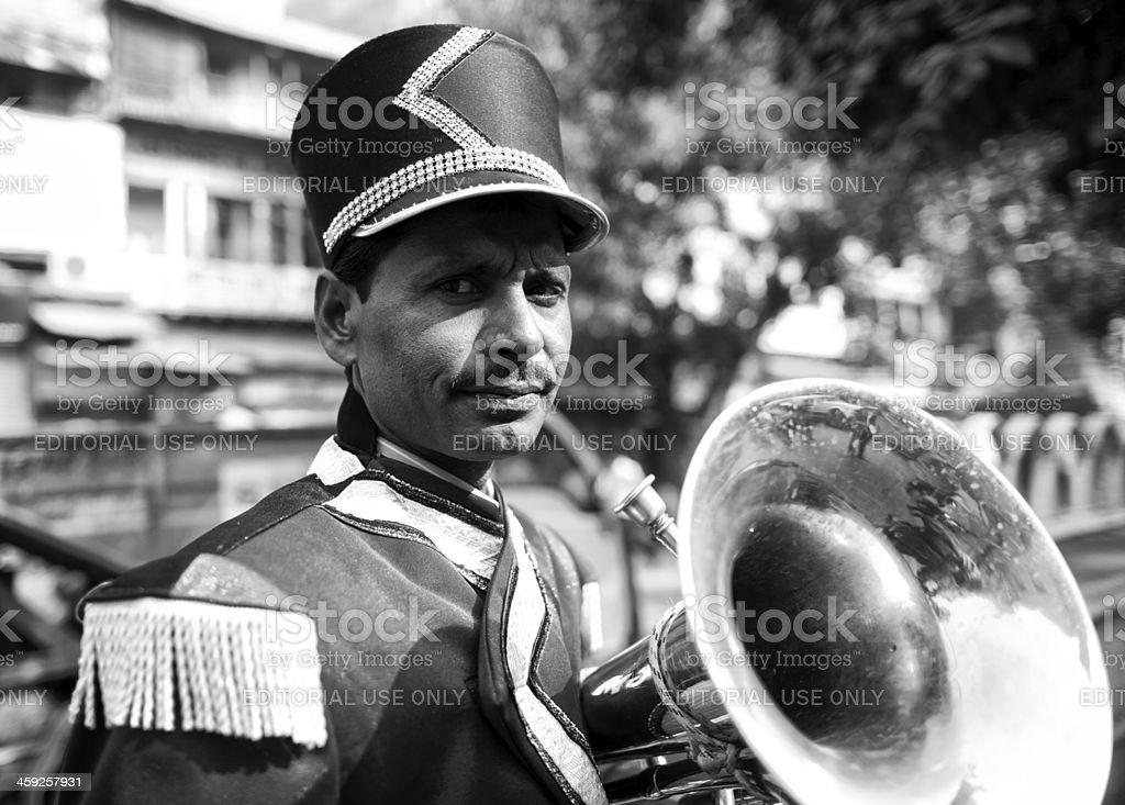 Street musician in New Delhi, India royalty-free stock photo