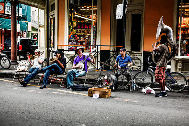 Street Musician in New Orleans stock photo