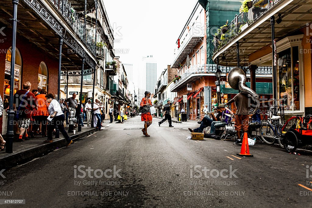 Street Musician in New Orleans royalty-free stock photo