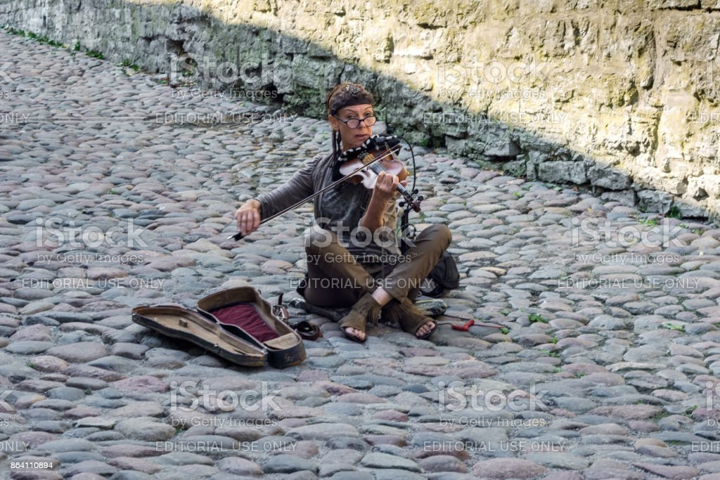 A street musician. royalty-free stock photo