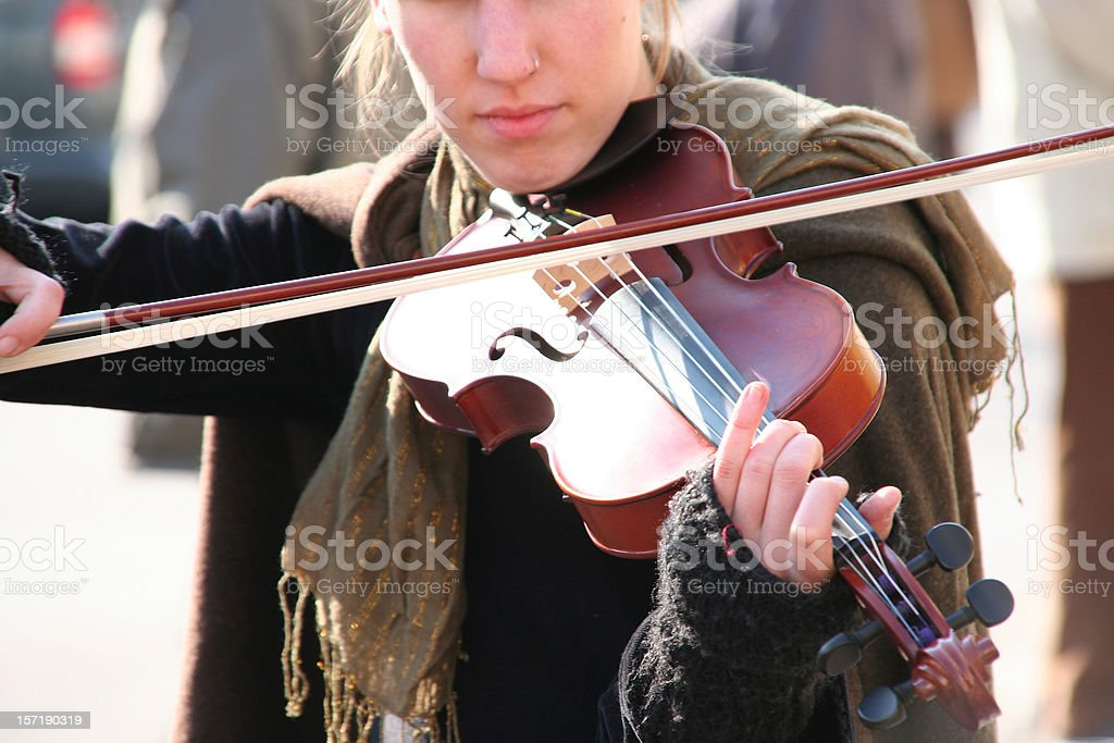 street musician playing violine royalty-free stock photo