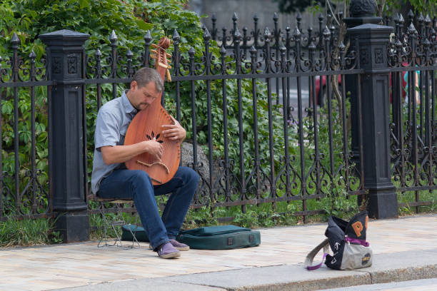 Cтоковое фото Street musician Ukraine tradition instrument