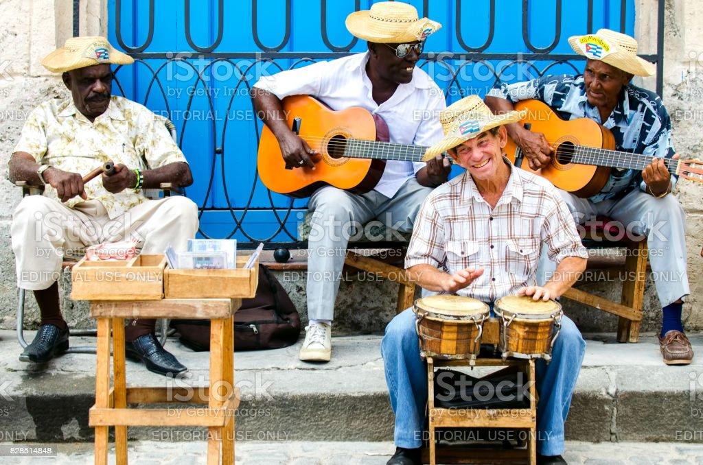 street musicians at Havana, Cuba stock photo