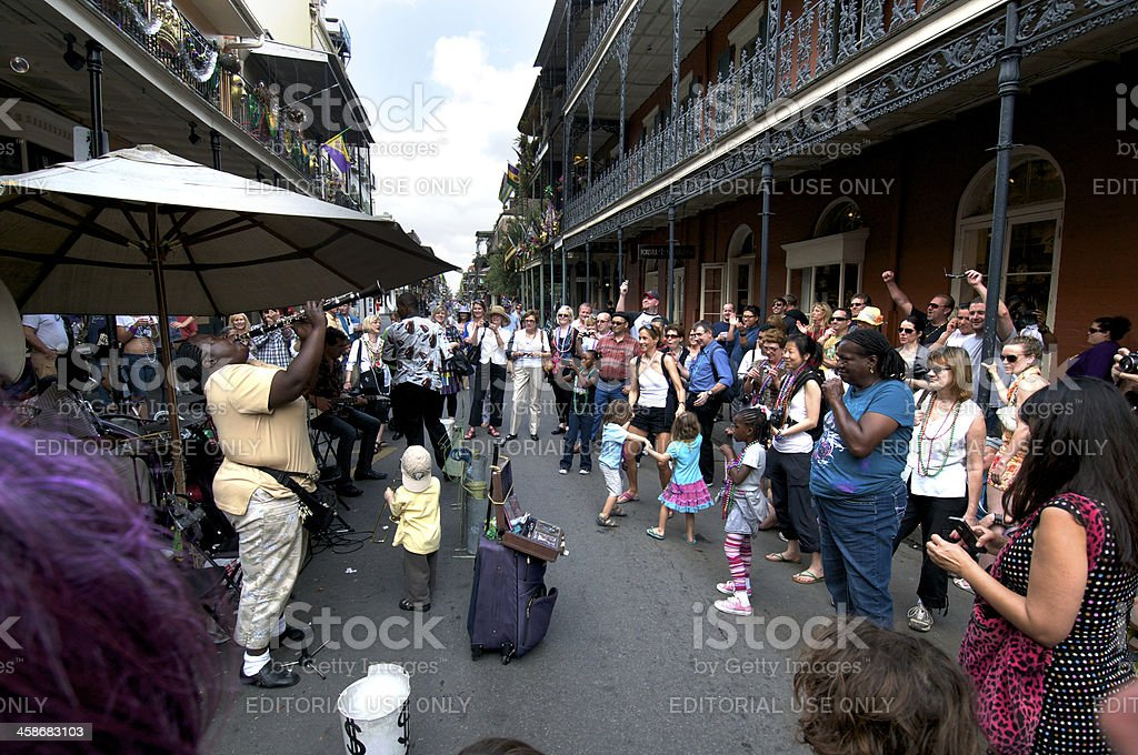 Street Musicians in New Orleans royalty-free stock photo