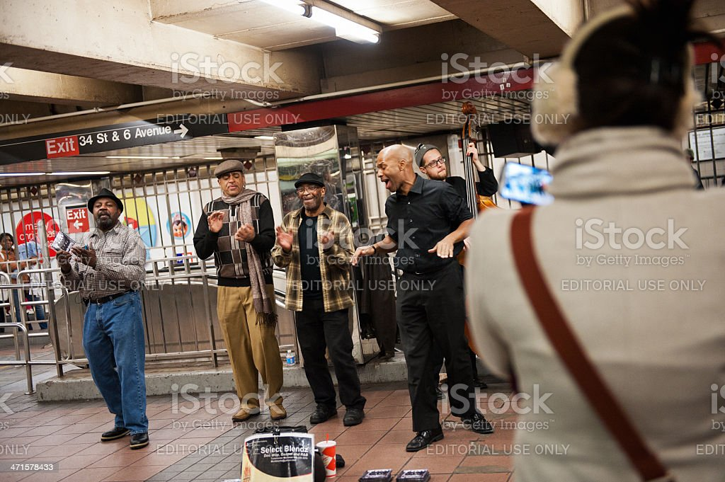 Street Musicians in NYC stock photo