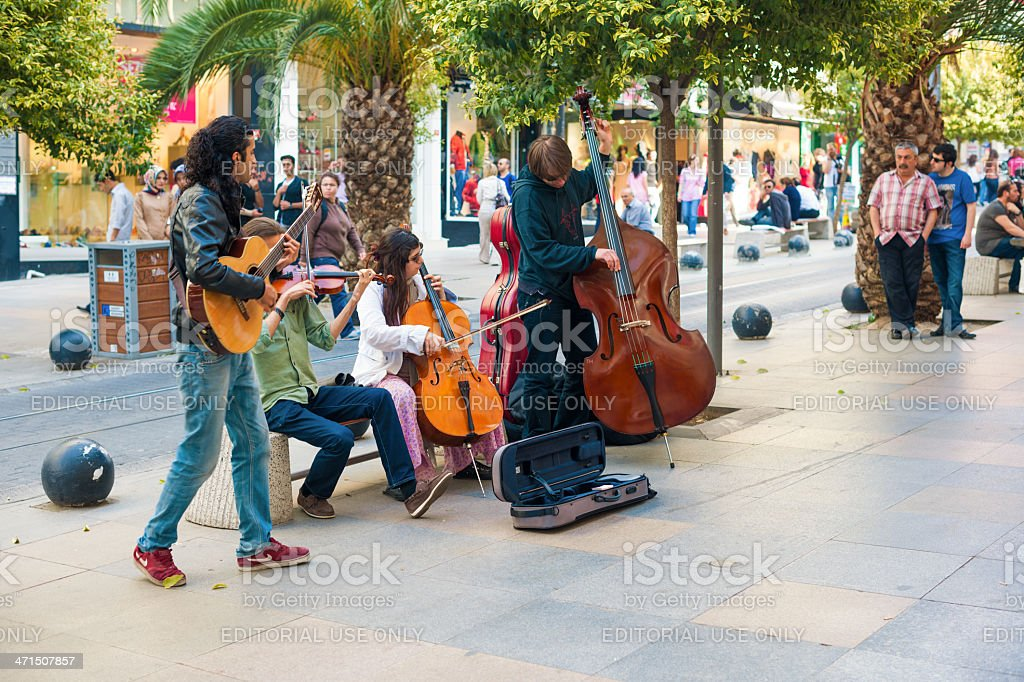 Street musicians royalty-free stock photo
