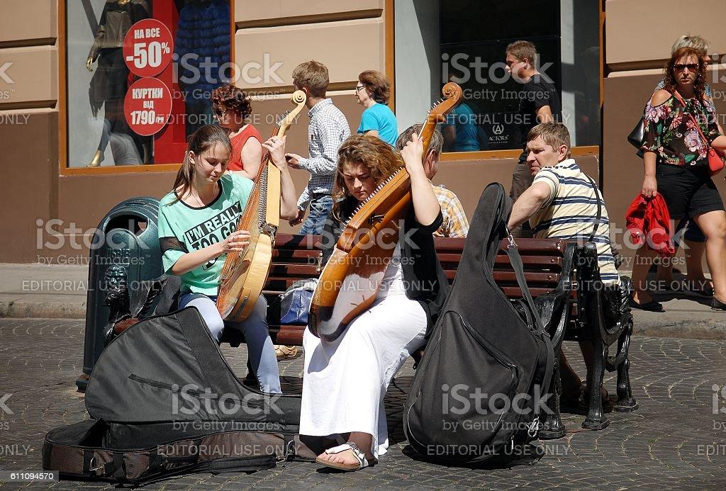 Street musicians  стоковое фото