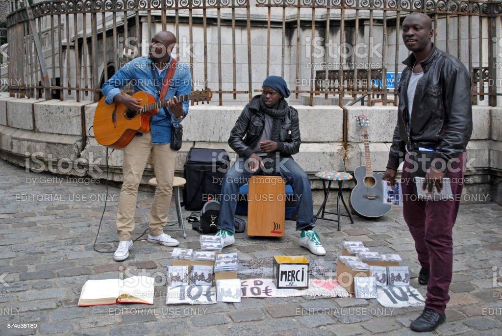 Street musicians. stock photo