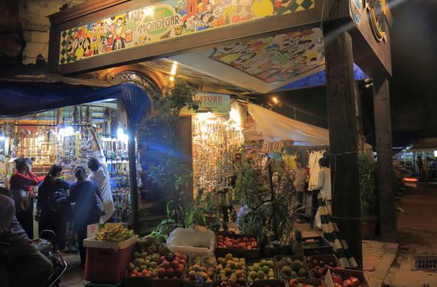 Street night market Mumbai India stock photo