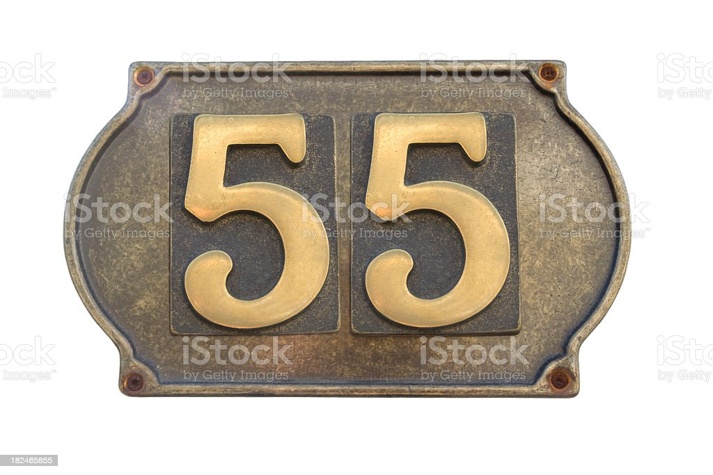 Street Number 55 royalty-free stock photo