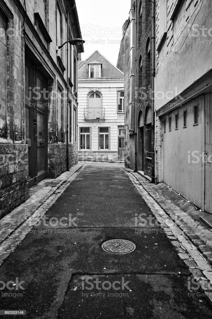 Street of Arras, France stock photo