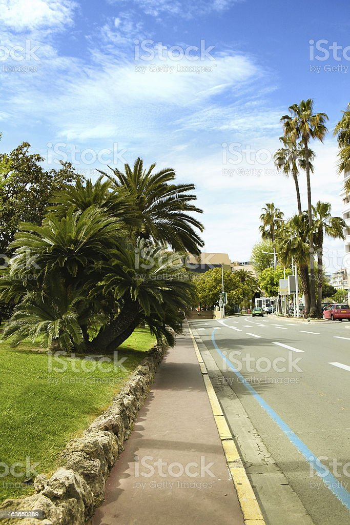 street of Cannes stock photo