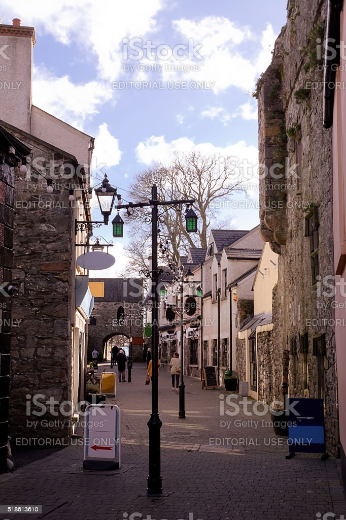 Street of Carligford stock photo