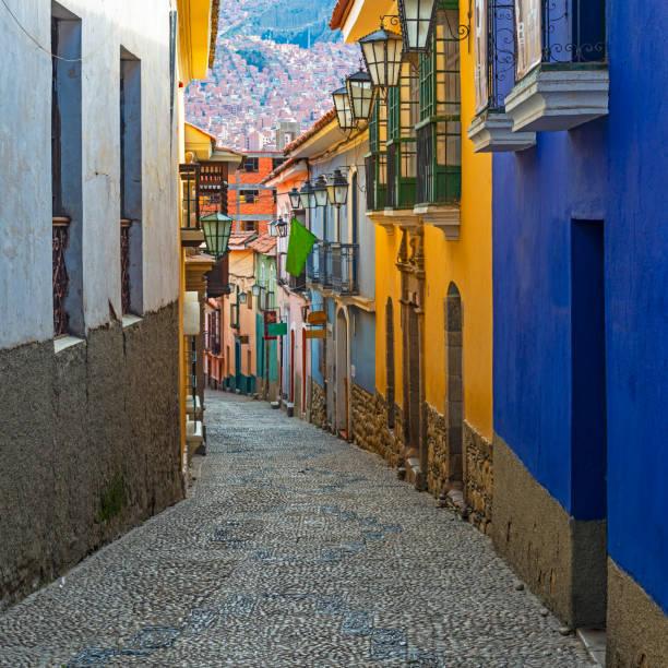 玻利維亞拉巴斯街 - 玻利維亞 個照片及圖片檔