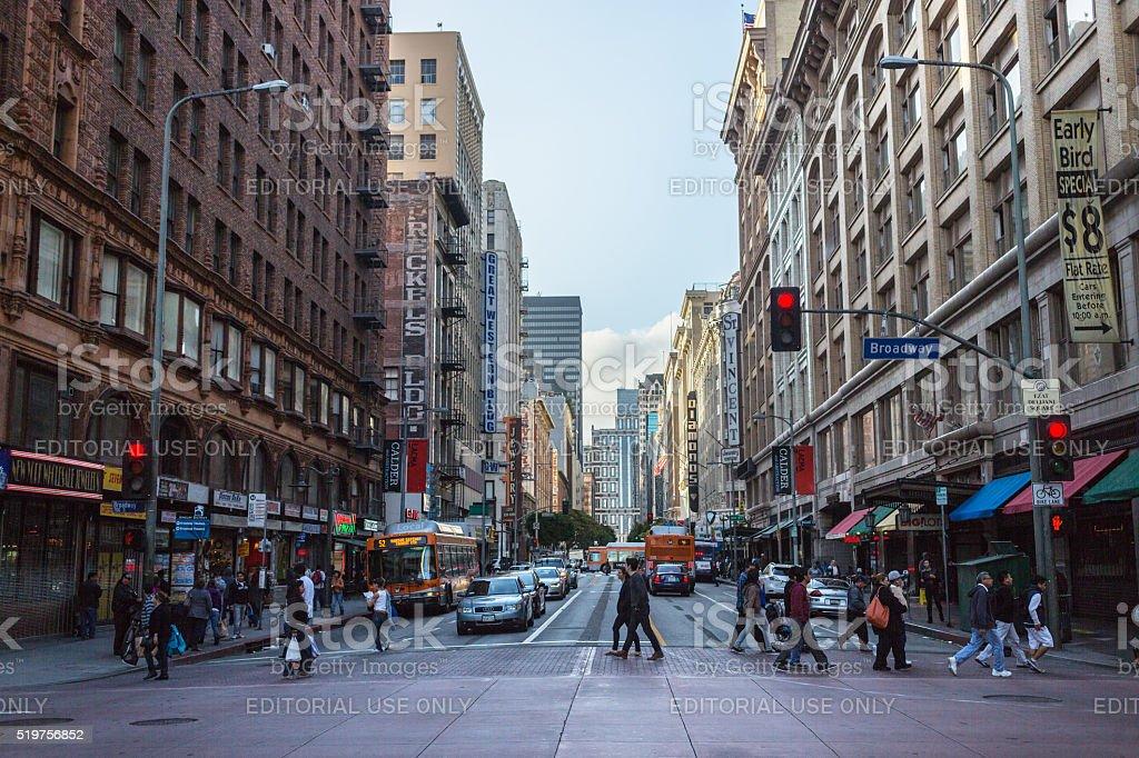 Street of Los Angeles, USA. stock photo