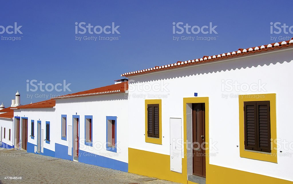 Street of Luz village, Alentejo stock photo